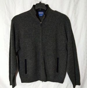 Pendleton Shetland full zip cardigan XL